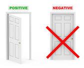 Positivos e negativos — Foto Stock