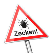 Ticks warning sign — Stock Photo