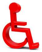 The disability — Stockfoto