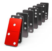 The dominoes — Stock Photo