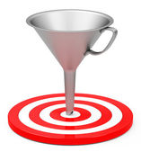 Target with funnel — Stock Photo