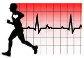 Running heartbeat — 图库照片