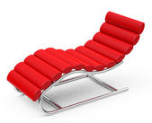 The red lounger — Stock Photo