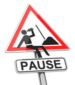 The pause — Stock Photo