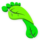 The green footprint — Stock Photo