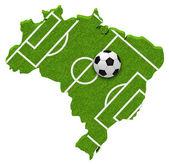 Soccer in brazil — Stock Photo