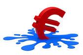 The euro crisis — Stock Photo