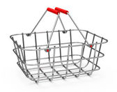 The shopping basket — Stockfoto