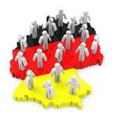 German population — Stock Photo