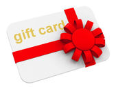 The gift card — Stock Photo