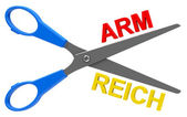 Arm or reich — Stock Photo