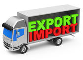 Import and export — Foto de Stock