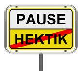 Pause-hektik — Stock Photo