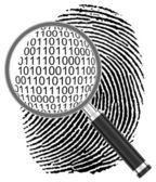 The digital fingerprint — Stock Photo
