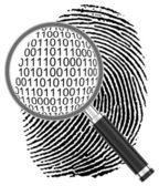 The digital fingerprint — Stock Photo