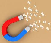 The money magnet — Stock Photo