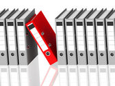 The red ring binder — Stock Photo