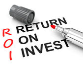 Return on invest — Stock Photo