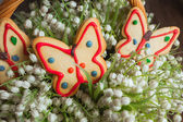 Gingerbread in the form of a butterfly — Photo