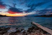 Colored sea sunset — Stock Photo
