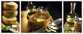 Panorama of food — Stock Photo