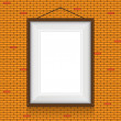 Постер, плакат: Vector frame for paintings or photographs on the brick wall background