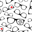 Hipster symbols. Valentines Day background. — Stock Vector #49233137