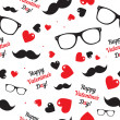 Hipster symbols. Valentines Day background. — Stock Vector #49233197