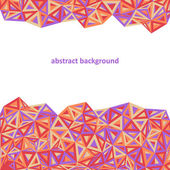 Triangle background, colorful abstract. — Stock Vector