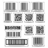 Barcode label set vector — Stock Vector
