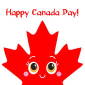 Happy Canada Day card. Vector. — Stock Vector