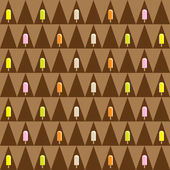 Ice cream seamless pattern — Stock Vector