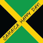 Jamaica happy day Greeting card. — Stock vektor