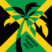 Jamaica happy day Greeting card. — Stock Vector