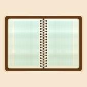 Open notebook vector — Stock vektor
