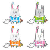 Sleepy bunny pajamas. — Stock Vector