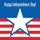 День счастливый независимости США поздравительных открыток. — Cтоковый вектор