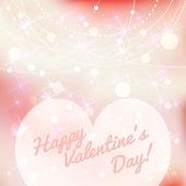 Happy Valentines day lettering Greeting Card. Vector illustration. — Stok Vektör