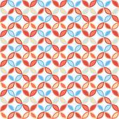 Seamless bright geometric circle pattern. — Stock Vector