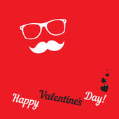Greeting card for hipsters Happy Valentines Day — Stock Vector