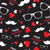 Hipster symbols. Valentines Day background. — Stock Vector