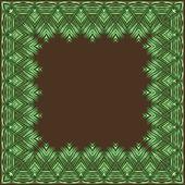 Palm leaves. Vector frame. — Stock Vector