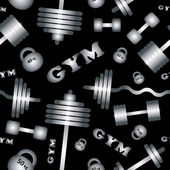 Gym. Seamless vector pattern. — Stok Vektör