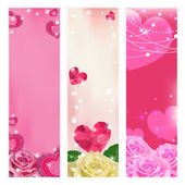 Set of vector love banners. Elements for design. — Stock Vector