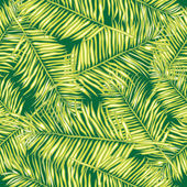 Palm leaves. Seamless vector background. Floral. — Stock Vector
