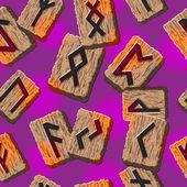 Norské runy abstraktní vektorové pozadí s šablonou pro přání, textil — Stock vektor