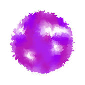 Watercolor stain on a white background. — Vector de stock