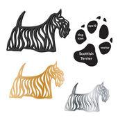Scottish Terrier dog icon vector on white background. — Stock Vector