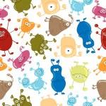 Bacteria. Seamless vector pattern. Medicine background — Stock Vector #50813753