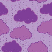 Rain clouds vector seamless background abstract — Cтоковый вектор